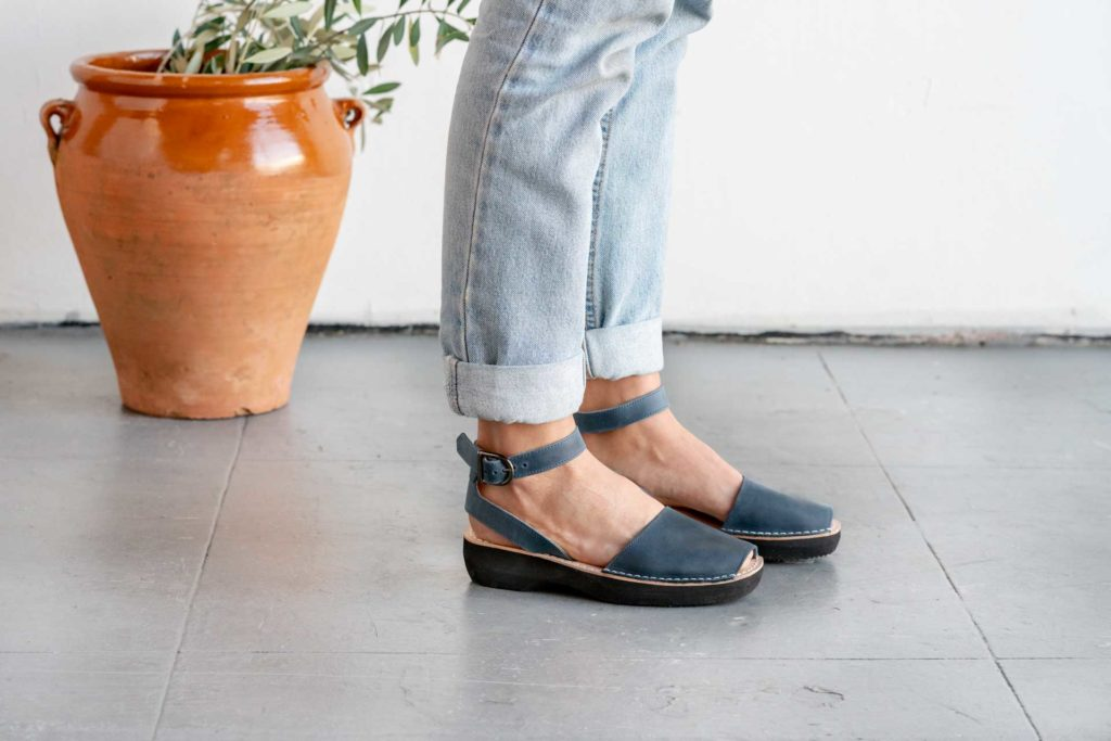 Mediterranean Style Pons Shoes in French Blue