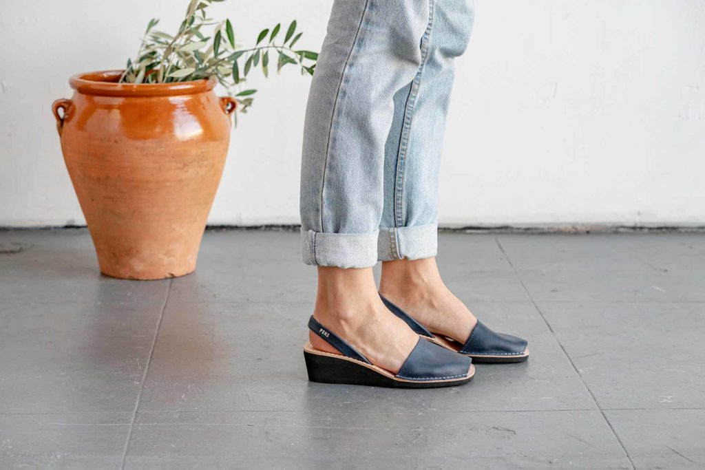 Wedge Pons in French Blue