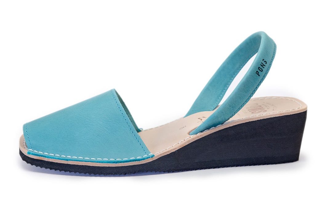 Wedge Aqua Blue Avarcas