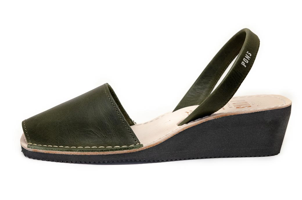 Wedge Forest Green Avarcas