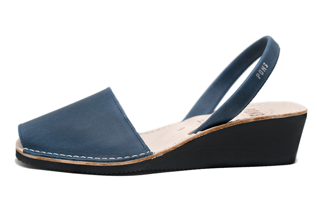 Wedge French Blue Avarcas