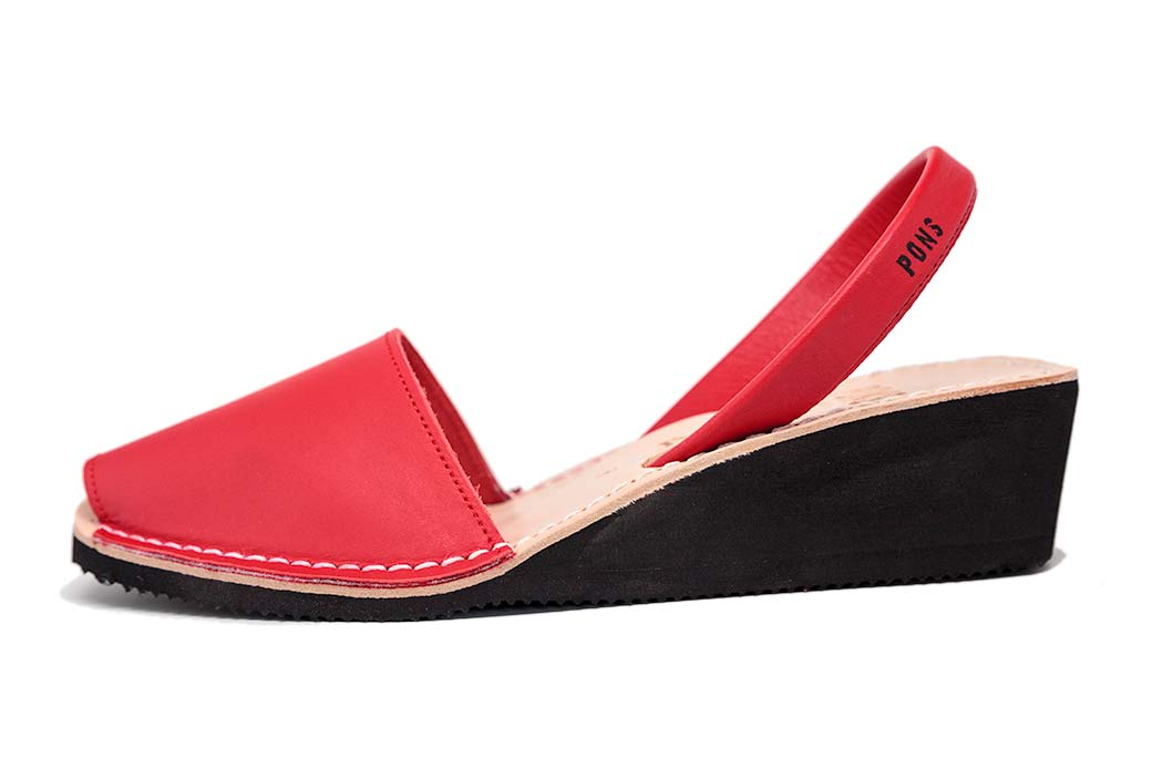 Wedge Red Avarcas