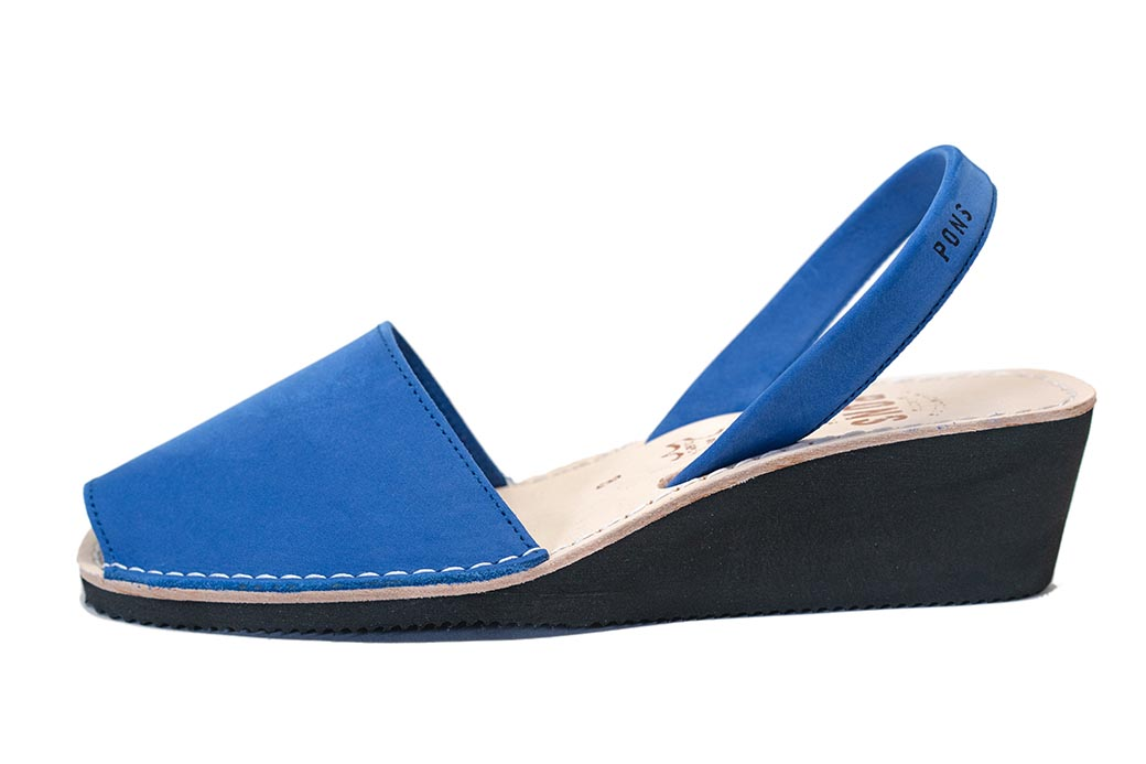 Wedge Royal Blue Avarcas