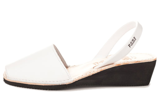 Wedge White Avarcas