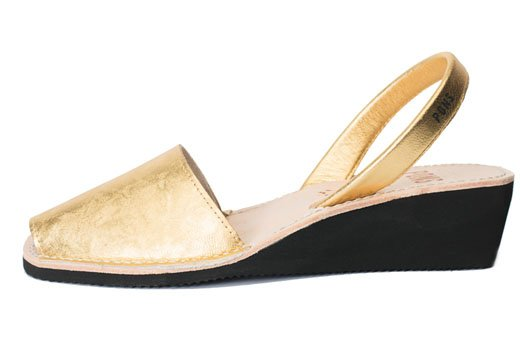 Wedge Metallic Gold Avarcas