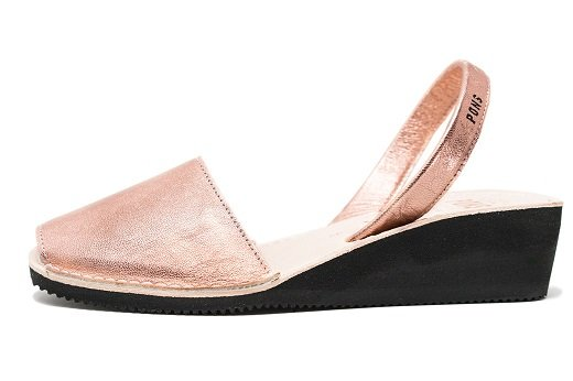 Wedge Metallic Rose Gold Avarcas