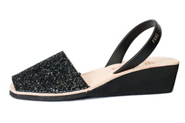 Wedge Glitter Black