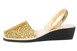 Wedge Glitter Gold