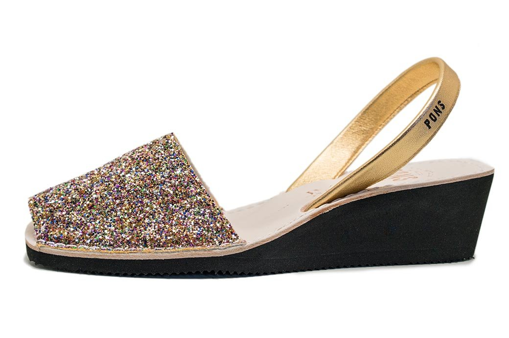 Wedge Glitter Multicolor Avarcas