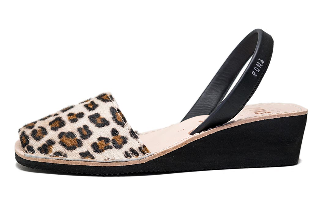 Wedge Animal Prints Leopard Avarcas