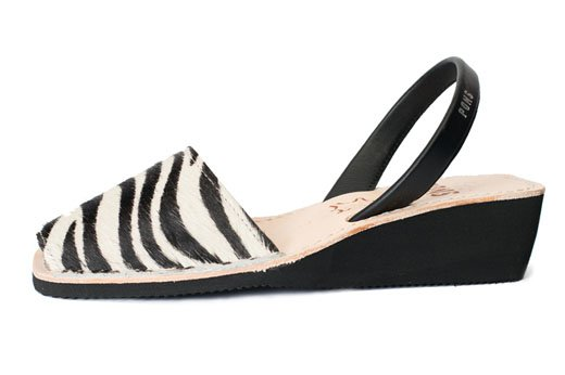 Wedge Animal Prints Zebra Avarcas