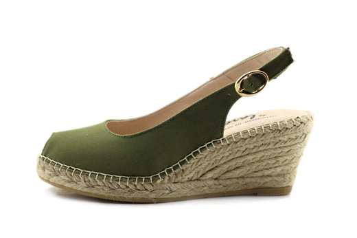 Sling Back Wedge Forest Green