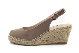 Sling Back Wedge Taupe