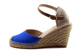 Ankle Strap Wedge Royal Blue