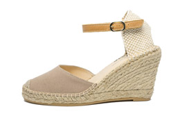 Ankle Strap Wedge Taupe