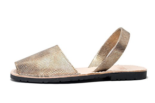 Classic Style Metallic Champagne Avarcas