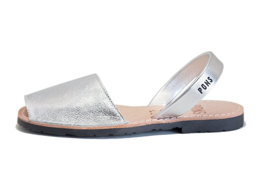Outlet - Classic Style Metallic Silver Avarca