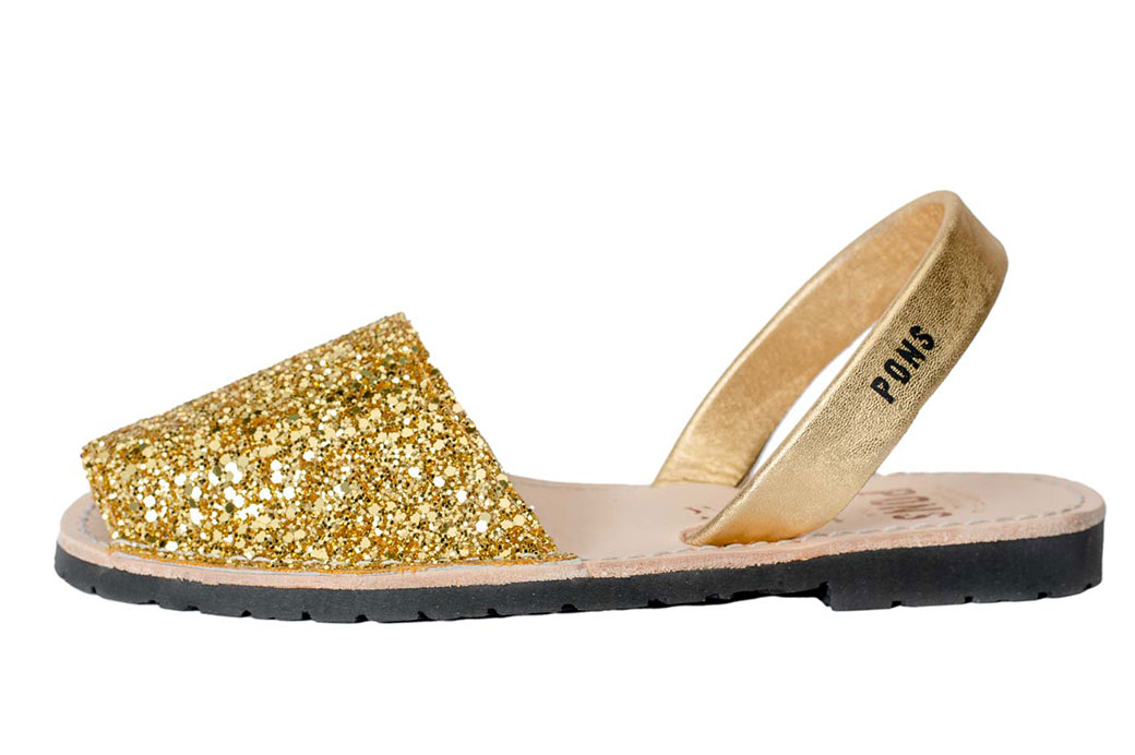 Outlet - Classic Style Glitter Gold Avarca
