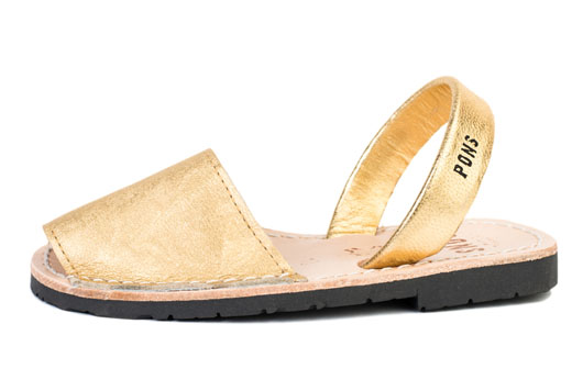 Outlet - Classic Style Kids Metallic Gold Avarca